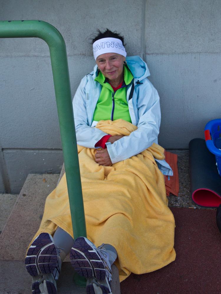 Brigitte im windgeschützten Eck