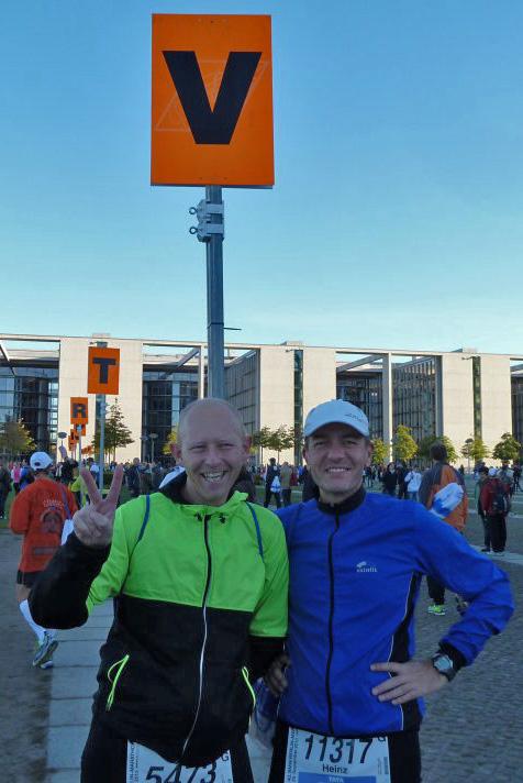 gemeinsam mit Alex vor dem Marathon