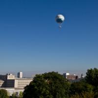 Mit dem Fesselballon auf 15o Meter Höhe