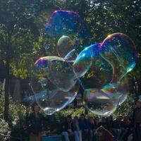 Seifenblasen bei den Hackeschen Höfen