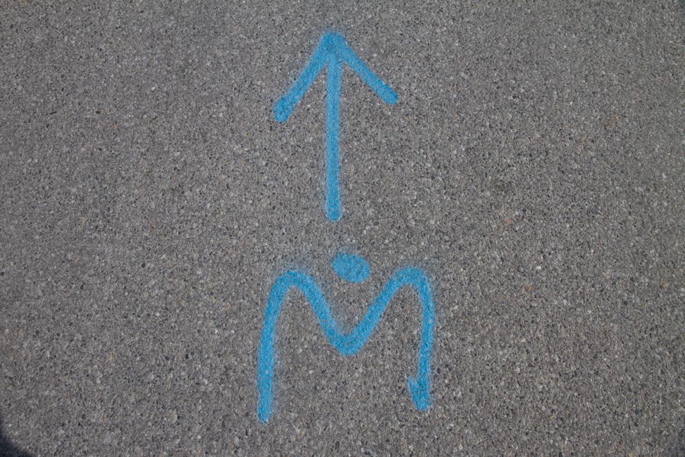 Markierung der Laufstrecke