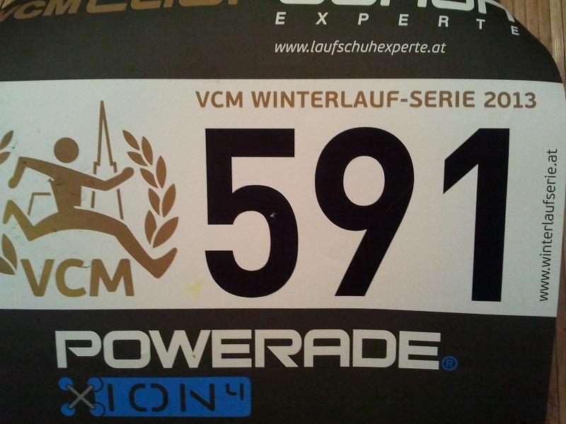 Meine Startnummer der Winterlaufserie