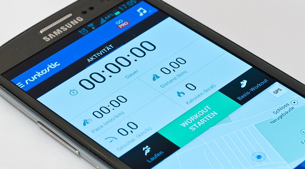 Runtastic App für das Smartphone