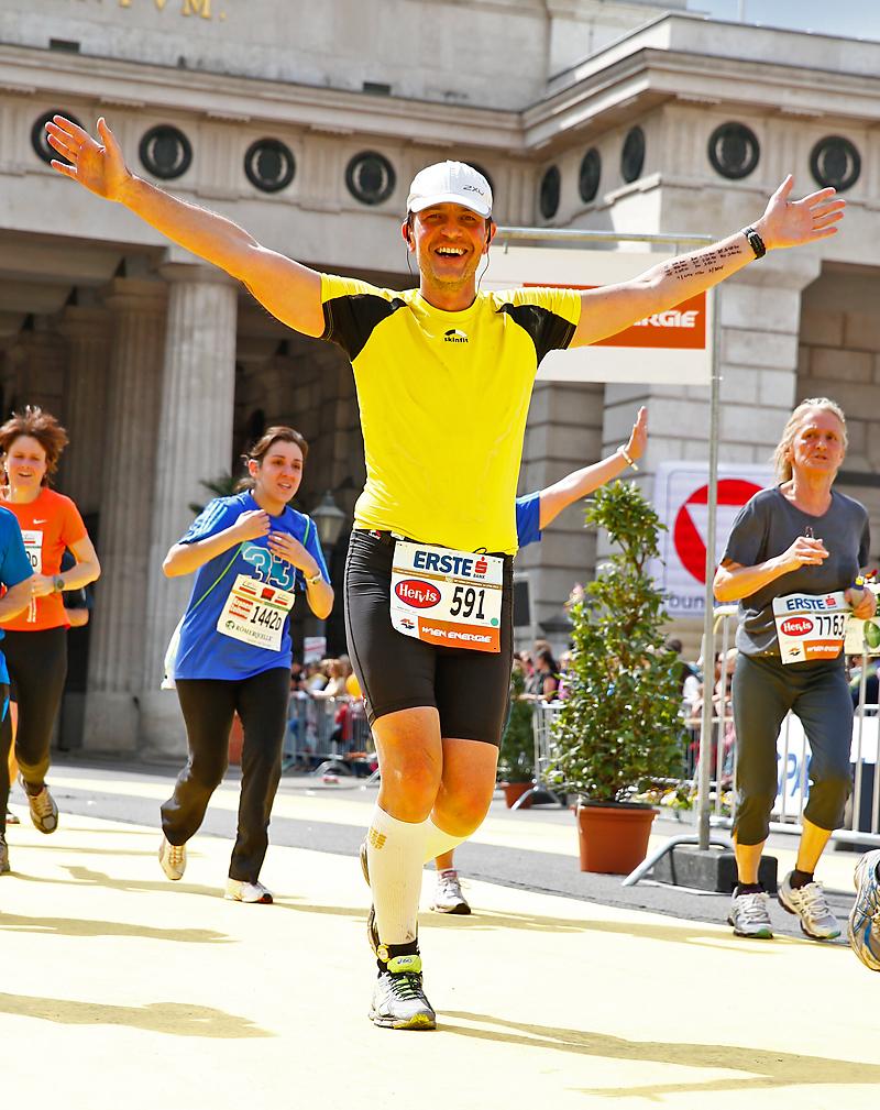 Zieleinlauf beim Wien-Marathon 2013