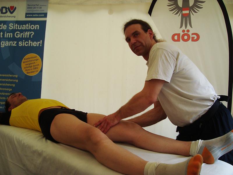 Massage nach dem Marathon
