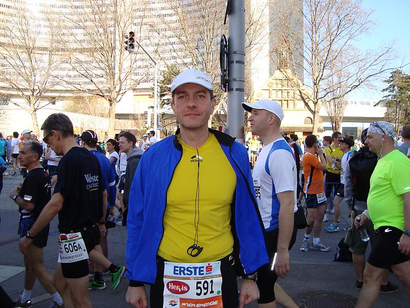 Vor dem Start zu meinem ersten Marathon