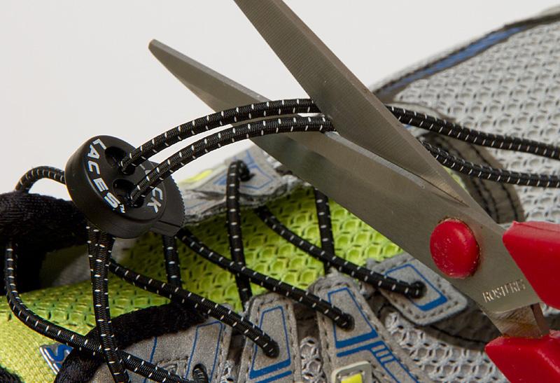 Gummischuhbänder abschneiden
