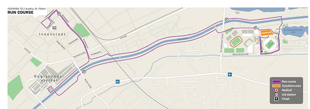 IRONMAN 70.3 St. Pölten - Laufstrecke