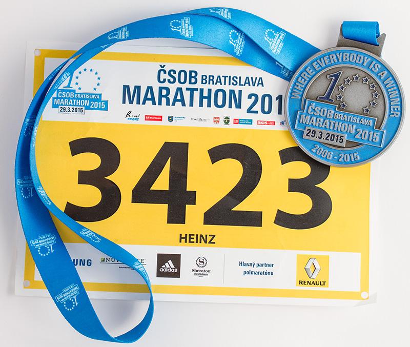 Medaille vom Bratislava Halbmarathon 2015